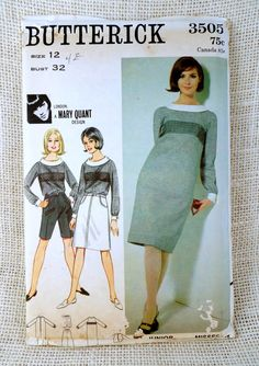 Vintage Pattern 1960s Butterick 3505 Mary by momandpopcultureshop