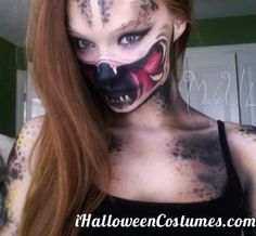 Predator Face by Alexys Fleming-halloween terrifying Halloween Cosplay, Halloween Make Up, Halloween Costumes, Halloween Face Makeup, Halloween Ideas, Halloween Magic, Cosplay Diy, Halloween 2014, Halloween Party