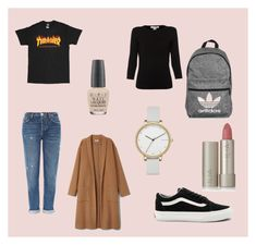 """TUMBLR INSPIRED OUTFIT"" by meihoeeg ❤ liked on Polyvore featuring Topshop, Vans, Belford, adidas, Skagen, OPI, Ilia, tumblr and polyvorefashion"