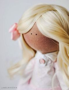 Mimin Dolls: How to put hair on your doll with glue by J.Melnikova