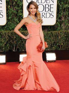 Jessica Alba: Oscar de la Renta - styled by Brad Goreski