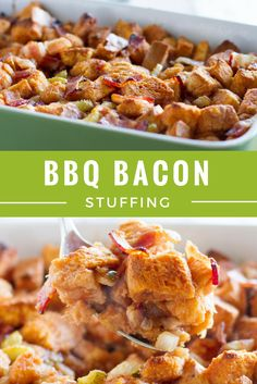 Try this slightly smoky and sweet variety featuring dry aged Jones bacon and your go-to barbecue sauce. Stuffing Recipes, Bacon Recipes, Grilling Recipes, Casserole Recipes, Fall Recipes, Sweet Recipes, Cooking Recipes, Christmas Recipes, Yummy Recipes
