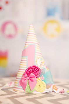 Your place to buy and sell all things handmade Pastel Candy, Pink Candy, Candyland, Birthday Hats, Green Candy, Candy Party, Candy Shop, Pretty Pastel, Party Hats
