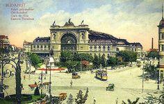Budapest 1912 Eastern train station - Keleti palyaudvar,  Hungary