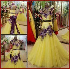 YZ New Arrival Gorgeous Luxurious Swarovski Crystals Bridal Wedding Dress VDVC