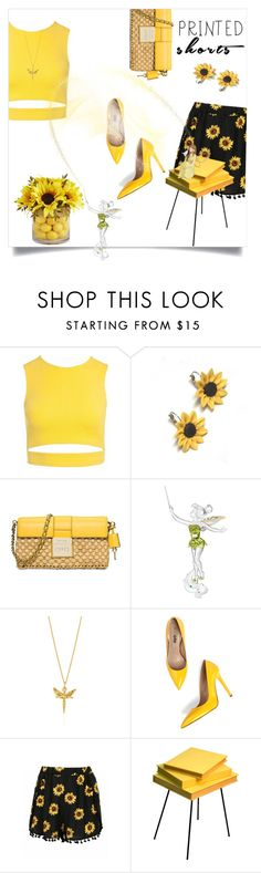 """Printed Shorts"" by graciegirl62 ❤ liked on Polyvore featuring Sans Souci, Summer and Silver, MICHAEL Michael Kors, Swarovski, Joy Everley, Valsecchi 1918 and Grasslands Road"