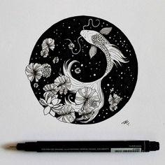 Ink B&W Illustrations.
