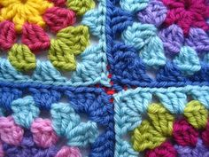 When I join my Granny Squares together I always choose to crochet them rather than stitch them. Its just the way that appeals to me, although many of my hooking buddies prefer the stitching method. I guess it's a personal...
