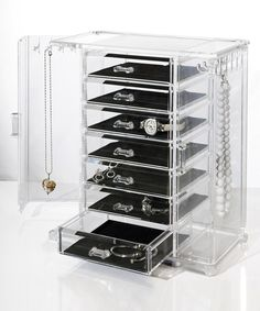 Love this Deluxe Jewelry Chest by U.S. Acrylic on #zulily! #zulilyfinds