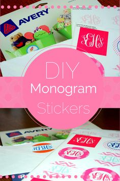 DIY Monogram Stickers are easy to make with your printer and a pack of labels! No fancy software is required!