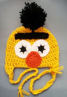 Hey, I found this really awesome Etsy listing at https://www.etsy.com/es/listing/100142738/bert-and-ernie-sesame-street-beanie-size
