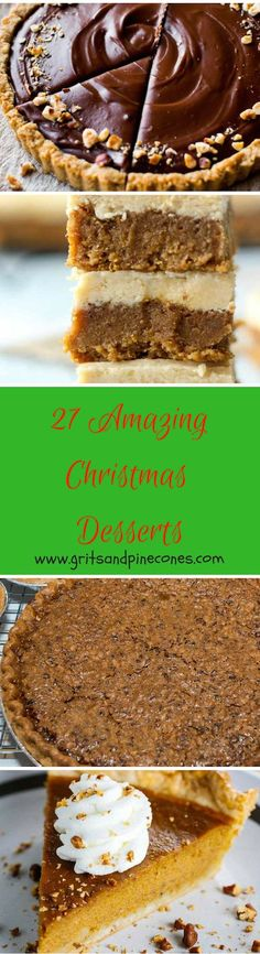 Whether you are looking for delicious and decadent classic desserts or new twists on old favorites for the Holidays, I have you covered. http://www.gritsandpinecones.com