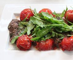 grilled lamb paillard with arugula + tomatoes. a perfect summer entertaining recipe!