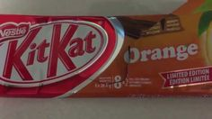 NESTLE KIT KAT ORANGE CANADA LIMITED EDITION REVIEW TASTE THOUGHTS