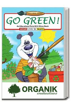 Go green and enjoy painting too with this engaging coloring book!
