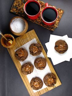 Cowgirl Cookies -- salted caramel chocolate oatmeal cookies with milk chocolate chunks, yum!