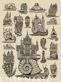 New Snail House prints are finally up for sale here:kylermartz.bigcartel.com  Thanks!