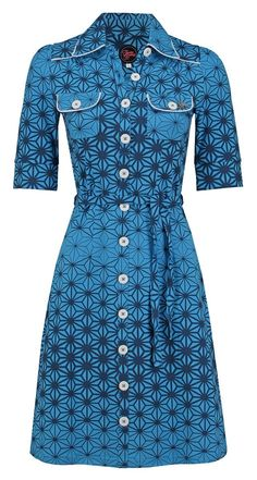 Dress Betsy Stars Blue & Black -Tante Betsy.com