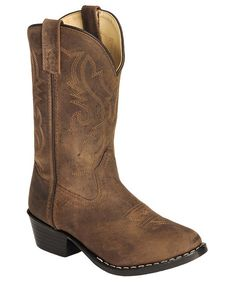 Red Ranch Children's Brown Oiled Leather Cowboy Boots - I know a little boy who would LOVE these!