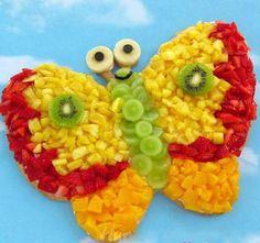 Mariposa de frutas.