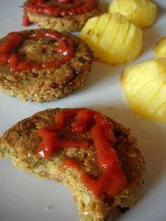μπιφτέκια από φιστίκια Meatloaf, Vegan Vegetarian, Baked Potato, Potatoes, Baking, Ethnic Recipes, Food, Potato, Bakken