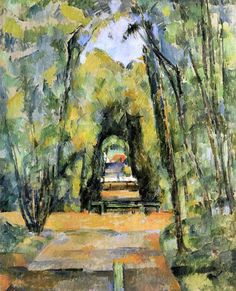 Tree Lined Lane at Chantilly by Paul Cezanne - Hand Painted Oil Painting