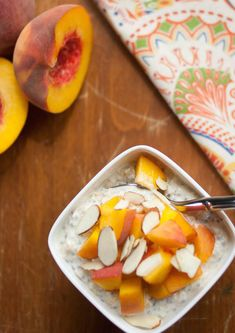 Peaches and Cream Overnight Oats   realfoodmommd.com