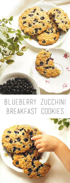 Healthy blueberry zucchini cookies
