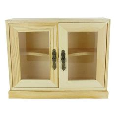 Wood Cabinet with Glass Doors | Shop Hobby Lobby $10.99