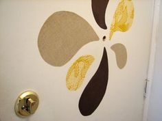 Starched fabric wall decal experiment | How About Orange