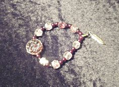 Beaded Bracelet with a Pretty Antique Gold Rose by StaceysShoppe, $9.99