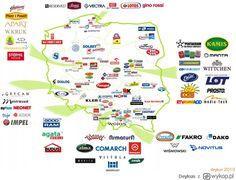 """Wykop.pl - Zobacz: Mapa około 200 """"w miarę"""" polskich firm, marek oraz przedsiębiorstw."""