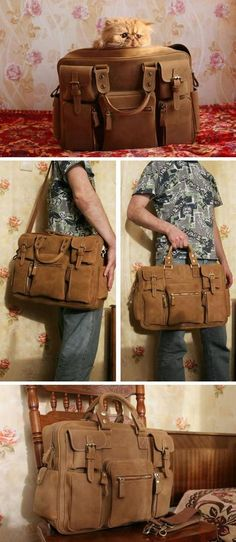 Handmade Vintage Leather Business Travel Bag   Messenger   Duffle Bag    Weekend Bag All Hand Stitched. be97c86e2ad7a