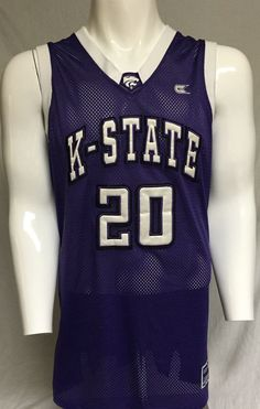 Kansas State Wildcats Purple X-Large #20 Basketball Jersey XL #ColosseumAthletics #KansasStateWildcats