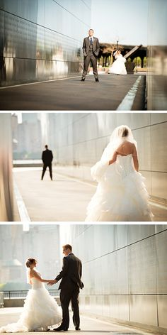 Adorable first look photos! | http://www.weddingpartyapp.com/blog/2014/08/18/playful-new-york-wedding-joseph-delgado/