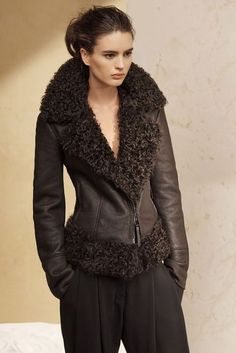 Description - Details - Customer Care Moto goes boho with this lambskin  shearling jacket. It s structured yet lush 20a6314db076c