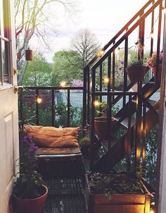 Small balcony, but very cozy