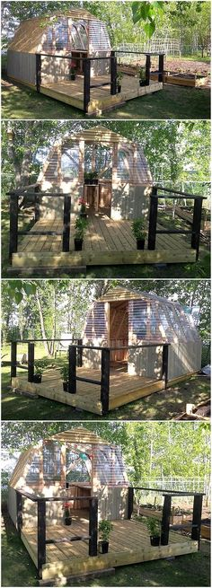 An ideal pallet creation is introduced in the image below. This recycled pallets made greenhouse is Diy Pallet Sofa, Wooden Pallet Projects, Wooden Pallet Furniture, Wooden Pallets, Wooden Diy, Pallet Wood, Pallet Ideas, Diy Furniture, Urban Furniture