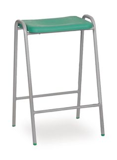 Stacking school lab high stools, science technology, art studio for tall tables. Classroom Stools, Classroom Design, Robin Day, Tall Table, High Stool, Science And Technology, Bar Stools, School, Lab