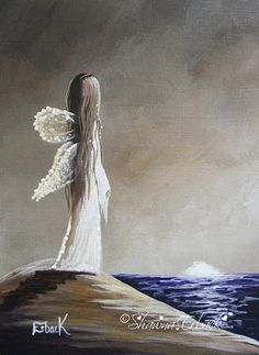 Seascape Fairy FINE ART PRINT aceo & 5x7 size by shawnaerback, $10.00