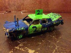 Custom Built 1/64 Demolition Derby Demo Car 80s Box GM Hot Wheels JL ERTL in Toys & Hobbies | eBay