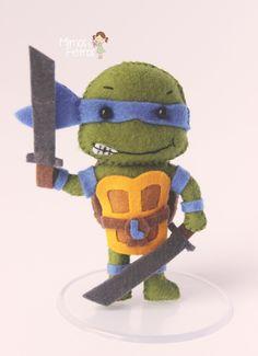 Tartarugas ninjas, Mestre Splinter e o Destruidor. Muito amor por esse pedido :)     Olha só que gracinha que ficaram...                   ...
