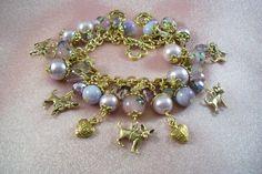 CHIHUAHUA Dog Themed  Charm Bracelet  brsp7  by HOBBYHORSELADY, $47.90