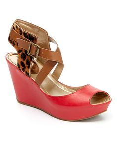 Look what I found on #zulily! Lipstick Sole Star Wedge Sandal by Kenneth Cole Reaction #zulilyfinds