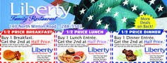 Liberty Family Restaurant would like to offer you savings in Rochester NY with Valpak Coupons