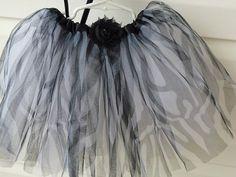 Girl's Tu Tu In Black and White Zebra  Animal Print by ArtsyTreats, $12.00
