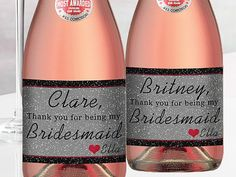 Check out this item in my Etsy shop https://www.etsy.com/listing/289579107/will-you-be-my-bridesmaid-mini-champagne