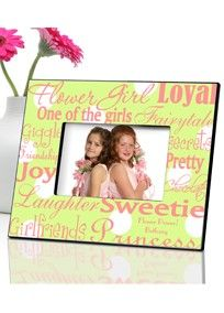 Picture frame for the flower girl
