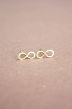 22K Gold Infinity Earrings Infinity Earrings Infinity by DiAndDe