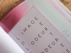Design graphique hyperosmique on Behance Graphic Design Layouts, Layout Design, Print Design, Book Binding Design, Book Design, Mises En Page Design Graphique, Blog Inspiration, Identity, Editorial Design